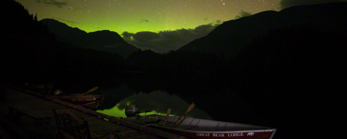 Northern lights at Great Bear Lodge