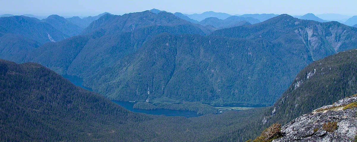 Great Bear Lodge nestled amongst the Coast Range Mountains